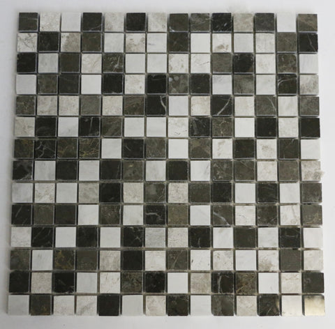 "Marble 3/4"" x 3/4"" Mosaic Blended Stone in Brown"