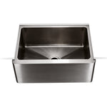 "Kerr 24"" x 18"" x 9"" Stainless Steel Farmhouse Apron Kitchen Sink with Center Drain"