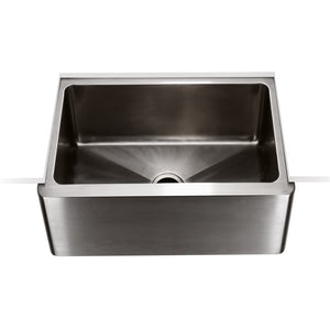 Waterworks Kerr Stainless Steel Farmhouse Apron Kitchen Sink with Center Drain For Sale Online