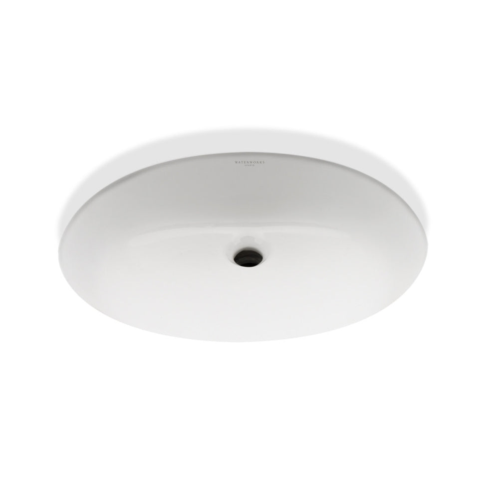 Waterworks Clara Oval Lavatory Sink in White