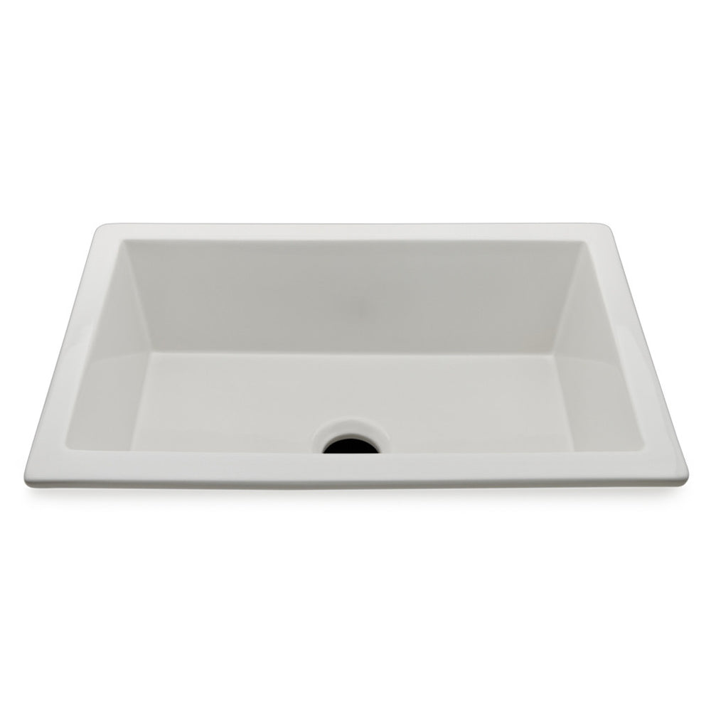 "Clayburn 32 1/4"" x 20 3/4"" x 11"" Fireclay Kitchen Sink with Center Drain in White"