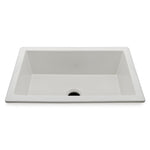 "Waterworks Clayburn 32 1/4"" x 20 3/4"" x 11"" Fireclay Kitchen Sink with Center Drain in White"