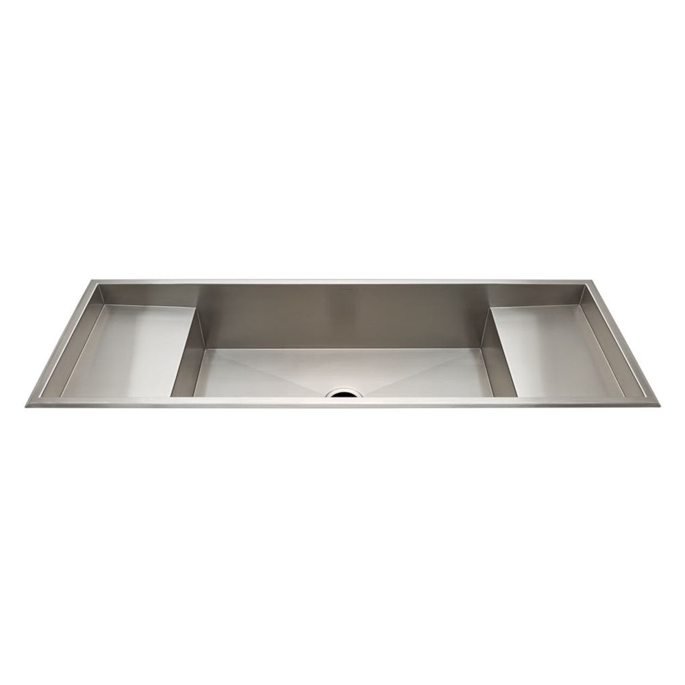 Waterworks Kerr Double Stainless Steel Sink with Center Drain and Workspace