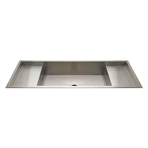 Kerr Double Stainless Steel Sink with Center Drain and Workspace