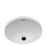 "Manchester Undermount Oval Vitreous China Lavatory Sink Single Glazed 17 1/4"" x 14 1/2"" x 8"" in Cool White"