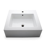"Waterworks Larsen Rectangular Porcelain Lavatory Sink (3 Hole) Double Glazed 23 5/8"" x 18 1/2"" x 6"" in White"