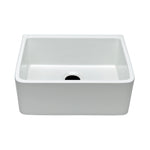 "Waterworks Clayburn 23 3/8"" x 18 1/4"" x 8 7/8"" Fireclay Apron Farmhouse Kitchen Sink with Rear Drain in White"