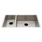 Waterworks Kerr Double Stainless Steel Kitchen Sink with Rear Drains