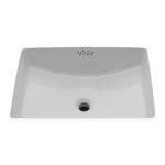 Waterworks Universal Rectangular China Bathroom Sink in White