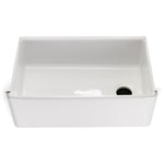 "Waterworks Clayburn 29 3/4"" x 17 7/8"" x 10"" Fireclay Farmhouse Apron Kitchen Sink with End Drain in White"