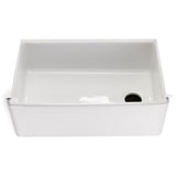 "Clayburn 29 3/4"" x 17 7/8"" x 10"" Fireclay Farmhouse Apron Kitchen Sink with End Drain in White"