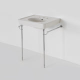 Waterworks Alden Metal Round Two Leg Single Washstand in Chrome