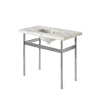 Waterworks Opus Metal Square Four Leg Single Washstand in Chrome