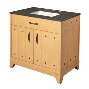 Waterworks Moorland Single Vanity in Dark Oak For Sale Online