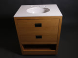 "Opus Single Wood / Corian Vanity 27"" x 21"" x 34 5/8"" in Oak"