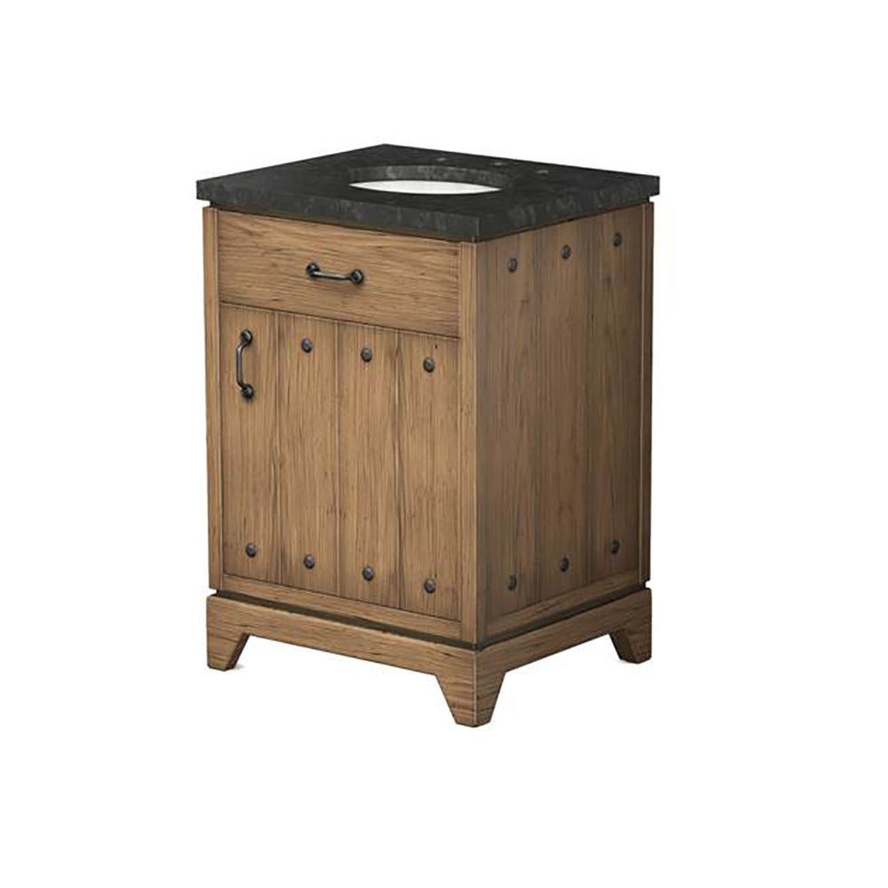 Waterworks Moorland Single Vanity in Dark Oak