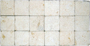 "Stone Partnership Ramon Gold 3"" x 3"" x 1/2"" Tumbled/Bushammered Natural Stone"
