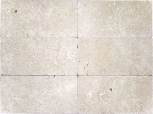 "Stone Partnership Durango 8"" x 16"" Tumbled Travertine Stone"