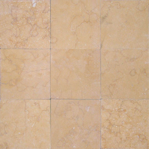 "Stone Partnership Desert Gold 4"" x 4"" Travertine Honed"