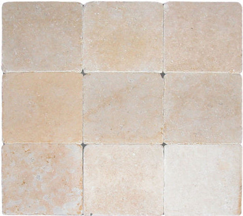"Stone Partnership Ramon Gold 12"" x 12"" x 1/2"" Tumbled Stone"