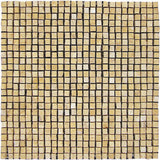 "Stone Partnership Desert Gold 3/8"" Handclipped Mosaic Honed Stone"