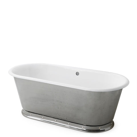 "Waterworks Voltaire 67"" x 31"" x 24"" Freestanding Oval Cast Iron Bathtub in Burnished"