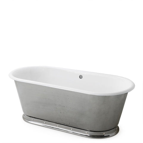 "Voltaire 67"" x 31"" x 24"" Freestanding Oval Cast Iron Bathtub in Primed"