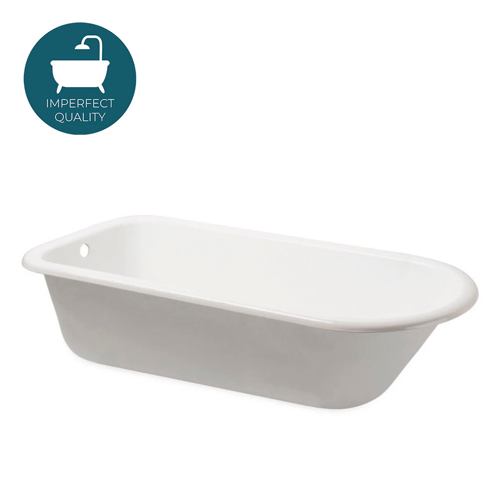 Waterworks Saxby Oval Cast Iron Bathtub in Primed