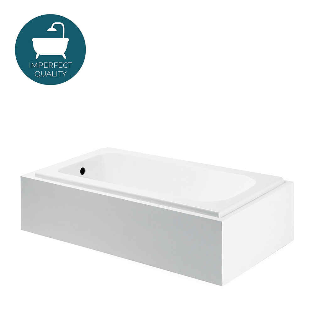 Waterworks Minna Primed Bathtub with End Drain