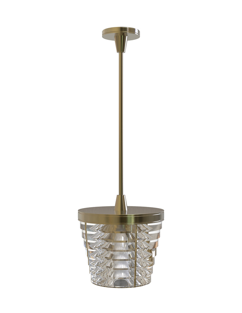 Waterworks Signal Ceiling Mounted Small Pendant in Unlacquered Brass