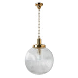 Waterworks Aurora Ceiling Mounted Large Pendant in Unlacquered Brass