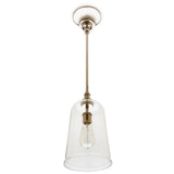 Waterworks Pendant Henry with Hand Blown Glass Shade in Nickel