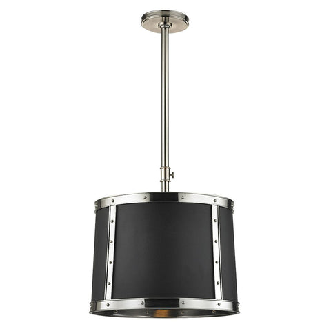 Waterworks Ipswich Ceiling Mounted Pendant with Shade in Burnished Nickel