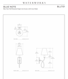 Blue Note Wall Mounted Single Loop Swing Arm Sconce with Fabric Shade in Antique Brass