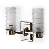 Waterworks Electra Wall Mounted Double Arm Sconce in Nickel