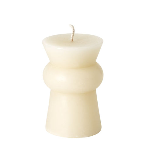 Waterworks Forma Short Pillar Candle in Natural