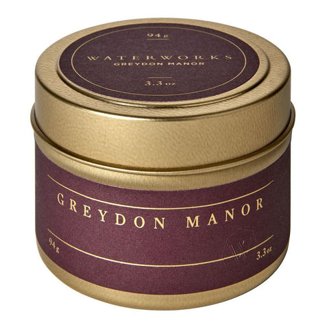 Waterworks Greydon Manor Travel Candle