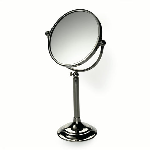 Crystal Freestanding Large Magnifying Mirror in Nickel