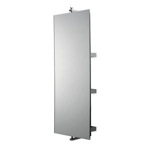 Waterworks Ali Wall Mounted Turning Mirror in Stainless Steel
