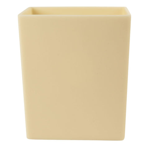 Waterworks Resin Small Rectangular Waste Can in Tan