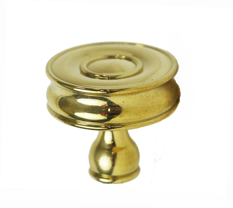 "Boulevard 1 3/4""Knob in Unlacquered Brass"