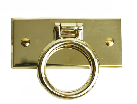 "Ensign 4"" Pull in Unlacquered Brass"