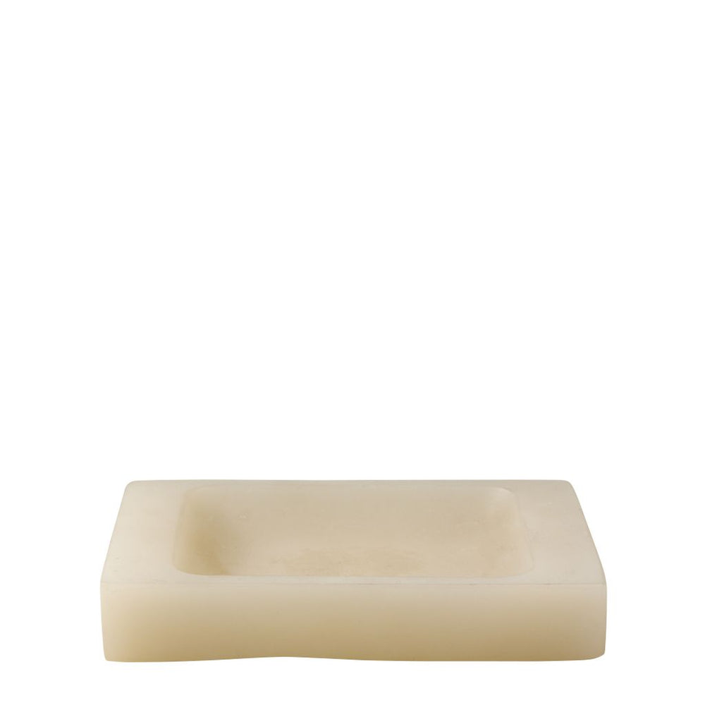 Waterworks Resin Soap Dish in Sand