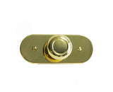 "Waterworks Steward 1 3/4"" Knob with Back Plate in Unlacquered Brass"