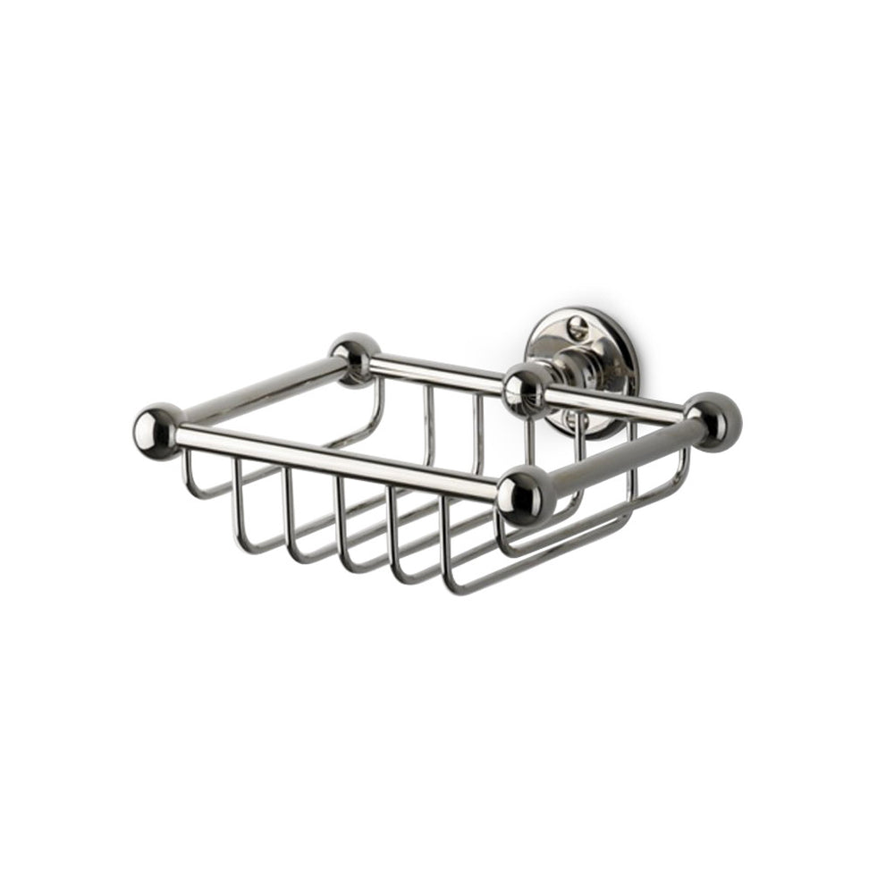 Waterworks Crystal Small Single Soap Basket in Chrome