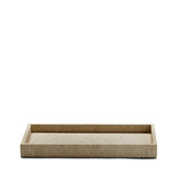 Limestone Small Rectangular Tray in Beige