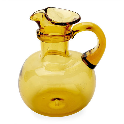 Waterworks San Marino Small Glass Pitcher in Amber