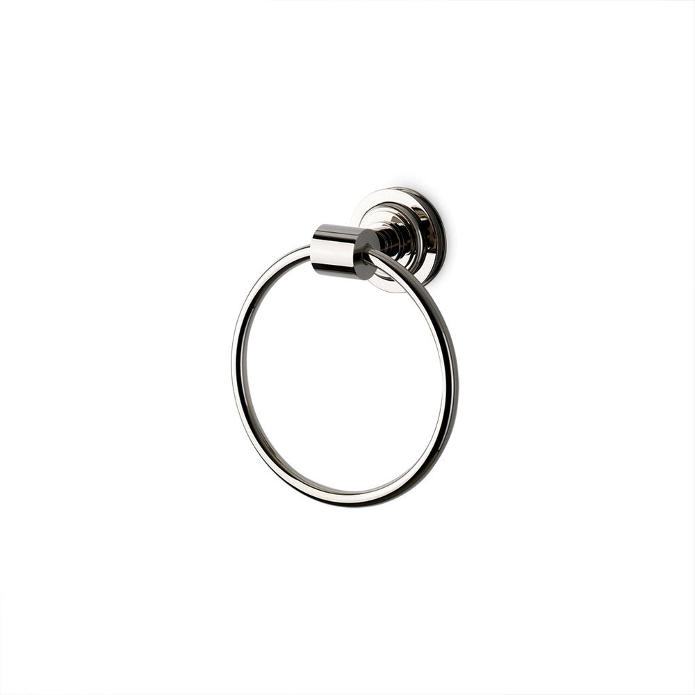Waterworks Aero Towel Ring in Unlacquered Brass