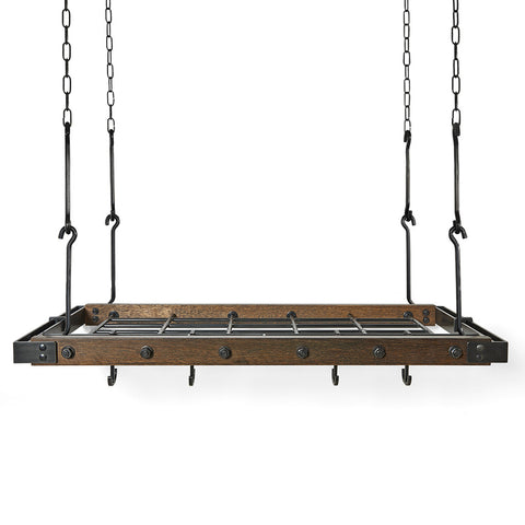 Waterworks Gansevoort Hanging Pot Rack in Black