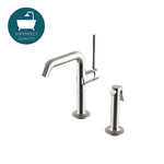Waterworks .25 One Hole High Profile Kitchen Faucet and Spray in Matte Nickel